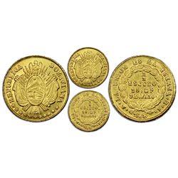 Potosi, Bolivia, gold 1/2 escudo, 1868FE, NGC MS 61.