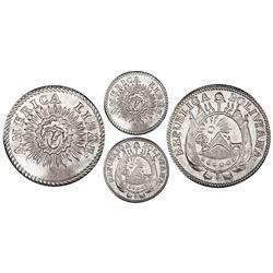 Potosi, Bolivia, medallic 1/2 sol, (1831), America Libre / Republica Boliviana, PCGS AU55, ex-Whitti