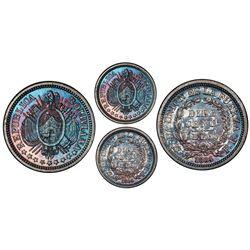 Potosi, Bolivia, proof pattern 10 centavos, 1884FE, PCGS PR65.