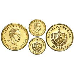 Cuba, gold PIEFORT 25 pesos, 1988, Marti, NGC MS 68, extremely rare, ex-Rudman.