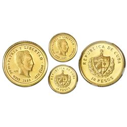 Cuba, gold proof PIEFORT 10 pesos, 1989, Marti, NGC PF 67 Ultra Cameo, very rare, ex-Rudman.