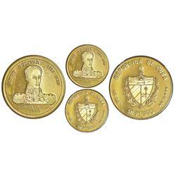 Cuba, gold proof PIEFORT 50 pesos, 1990, Simon Bolivar, NGC PF 67 Ultra Cameo, extremely rare, ex-Ru