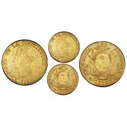 Quito, Ecuador, 8 escudos, 1856GJ, PCGS AU53.