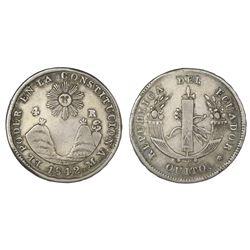 Quito, Ecuador, 4 reales, 1842MV, NGC VF 30.
