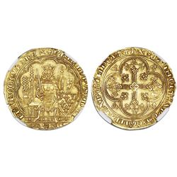 France, gold ecu d'or, Philip VI (1328-50), NGC MS 62.