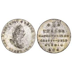 Brunswick-Luneburg-Calenberg-Hannover (German States), taler, George III, 1801.