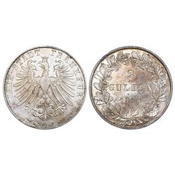 Frankfurt (German States), 2 gulden, 1853.