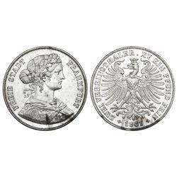 Frankfurt (German States), 2 vereinstaler, 1861.