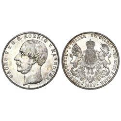Hannover (German States), 2 taler, George V, 1854-B.