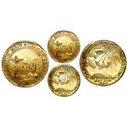 Saxe-Coburg-Saalfeld (German States), gold 1 ducat, Franz Josias, (1745), Saalfield mint, commemorat