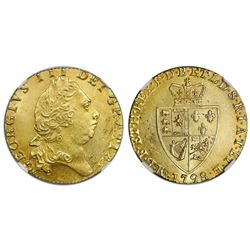 Great Britain (London, England), gold guinea, George III, 1798, NGC MS 63.