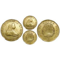 Guatemala, gold bust 8 escudos, Ferdinand VI, 1755J, very rare, NGC VF 30, ex-Richard Stuart.