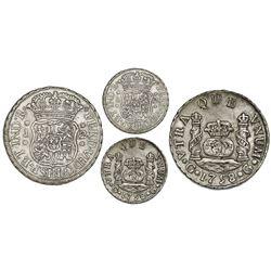 Guatemala, pillar 2 reales, Ferdinand VI, 1758J, large rosettes, rare.