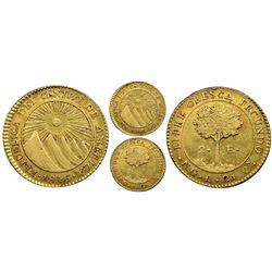 Guatemala (Central American Republic), gold 2 escudos, 1846A, NGC AU 53.