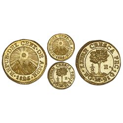 Guatemala (Central American Republic), gold 1/2 escudo, 1826M, NGC MS 64.