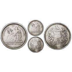 Guatemala, 4 reales, 1892, 0.835 fineness, rare, NGC VF 25, ex-Freeman Craig Sr.