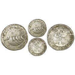 Tegucigalpa, Honduras, provisional (low-silver) 2 reales, 1833F, NGC VF 25, ex-O'Brien.