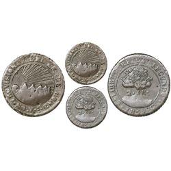 Tegucigalpa, Honduras, (very low-silver) 2 reales, 1852G, rare.