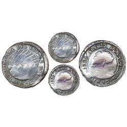 Tegucigalpa, Honduras, provisional (low-silver) 1 real, 1849G, NGC F 12, ex-O'Brien.
