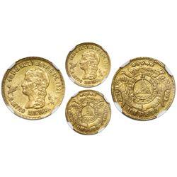 Honduras (Tegucigalpa mint), gold 1 peso, 1895, rare, NGC AU 58.