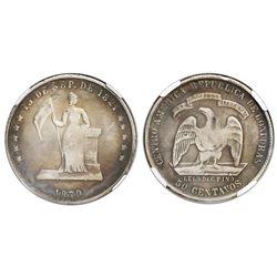 Honduras, 50 centavos, 1879, Lovett type, rare, NGC VF 20.