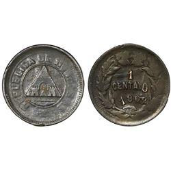 Honduras, bronze 1 centavo, 1903/2/0, plain edge.