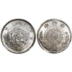 Japan, 1 yen, Meiji 3 (1870), type 1, NGC MS 64.