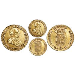 Mexico City, Mexico, gold bust 1 escudo, Charles III (young bust), 1761MM, very rare, ex-Huntington.