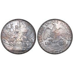 """Mexico City, Mexico, 1 peso """"caballito,"""" 1910, PCGS MS62."""