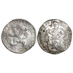 """Westfriesland, United Netherlands, """"lion"""" daalder, 1639, mintmark lily."""