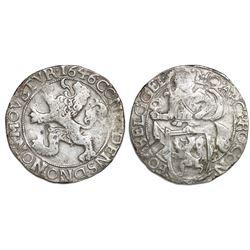 """Gelderland, United Netherlands, """"lion"""" daalder, 1646."""