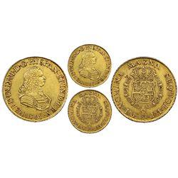 Lima, Peru, gold bust 8 escudos, Ferdinand VI, 1755JM, NGC XF 45.