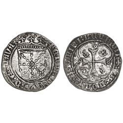 Navarre, Aragon (Spain), croat (1 real), Ferdinand II (V of Spain), struck 1513-16, Type E.