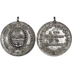 Buenos Aires, Argentina, silver medal, no date (1871), to Servants of Humanity during the Buenos Air