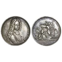 Austria (Holy Roman Empire), silver medal, Charles III Spanish Pretender (Emperor Charles VI), 1703,
