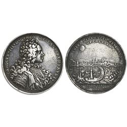 Austria (Holy Roman Empire), silver medal, Charles III Spanish Pretender (Emperor Charles VI), 1706,