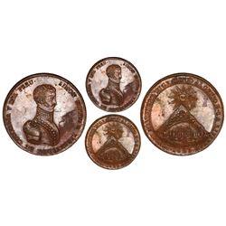 Potosi, Bolivia, bronze medal, 1825, Simon Bolivar and Cerro de Potosi, NGC MS 61 BN.