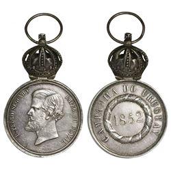 Brazil, silver military decoration, Pedro II, 1852, Second Cisplatine War (Uruguay/Argentina Campaig