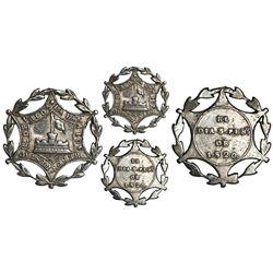 Chile, silver star military decoration, 1820, liberation of Valdivia, very rare, ex-J. Coolidge Hill