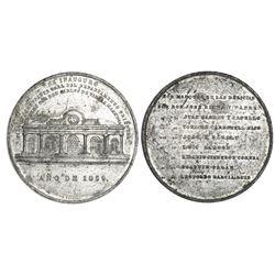 Santiago, Cuba, large white-metal medal, 1859, Eastern Department Commander General Don Carlos de Va