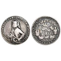 Great Britain, small silver Admiral Vernon medal, 1739, Porto Bello, Vernon alone, ex-Adams.