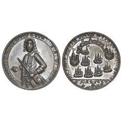 Great Britain, small copper-alloy Admiral Vernon medal, 1739, Porto Bello, Vernon alone, ex-Adams.