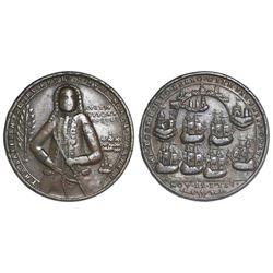 Great Britain, copper-alloy Admiral Vernon medal, 1739, Porto Bello / Fort Chagre, ex-Adams.