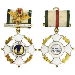 Mexico, gold cross military decoration, 1821, Cross of Tepeaca - Second Class, with original suspens