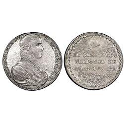 Guadalajara, Mexico, silver proclamation medal, Iturbide, 1822, Consulate, by V. Medina, NGC AU 50.