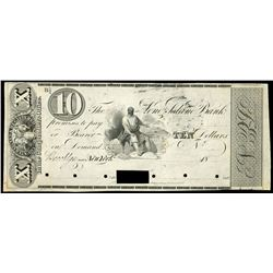 Brooklyn, New York, Long Island Bank, $10 front proof, 18XX (1843-45), plate position B.