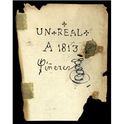 Santa Cruz de Mompox, United Provinces of Nueva Granada (Colombia), 1 real, 1813, Pinerez issue.