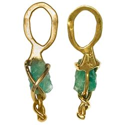 Small natural emerald, 1.37 carats, ex-Atocha (1622), mounted in 14K gold pendant.