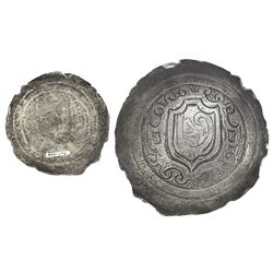 Small silver breastplate with ornate design, ex-Atocha (1622).