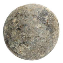 English lead cannonball, ca. 1622-1644.